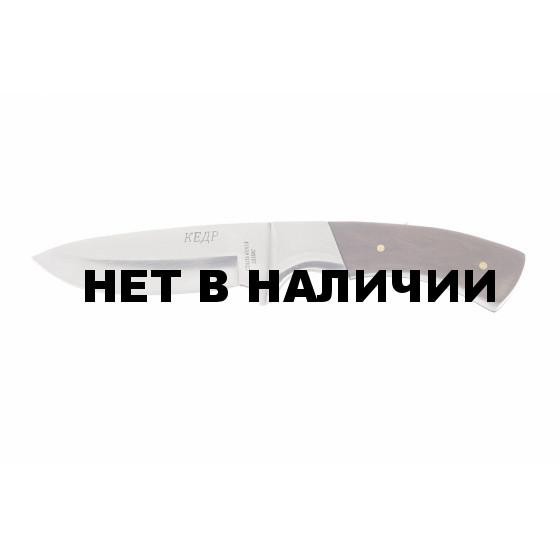 Нож Pirat Кедр рукоять дерево с фиксированным клинком
