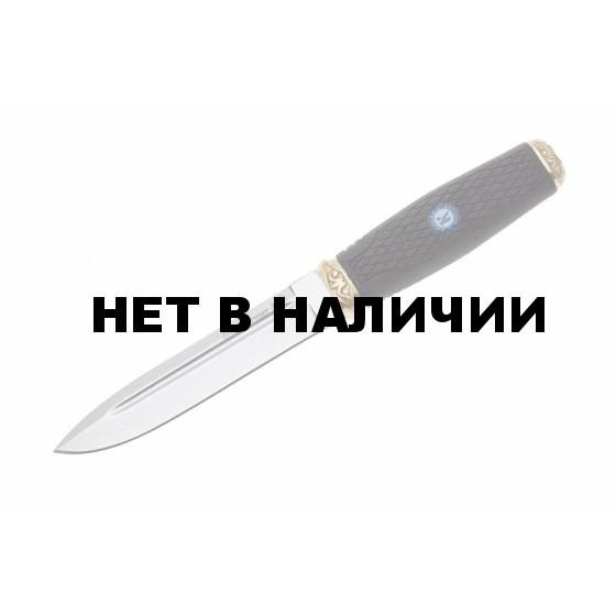 Нож ПП Кизляр разделочный Пограничник-2 AUS-8 полированный с фиксированным клинком