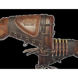 Патронташ Holster на приклад 5*7,62 Царская охота кожа