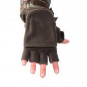 Перчатки-варежки Keotica флисовые олива