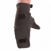 Перчатки-варежки Keotica Softshell олива темная