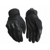 Перчатки VoenPro тактические с защитой костяшек черные