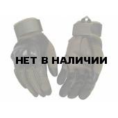 Перчатки VoenPro тактические с защитой костяшек олива с черным