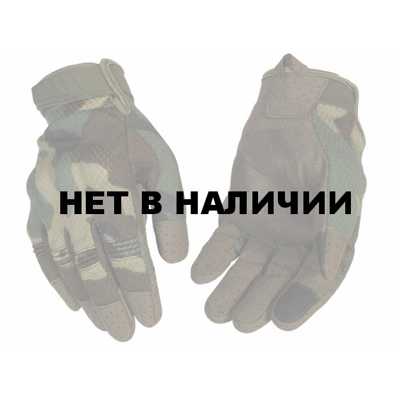 Перчатки VoenPro тактические со скрытой защитой woodland