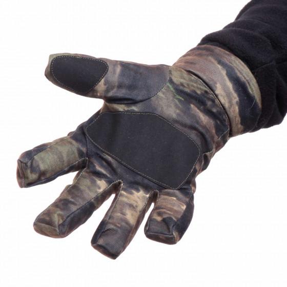 Перчатки Keotica мембрана на флисе тигр