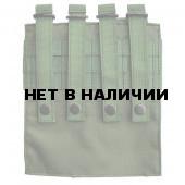 Подсумок Kiwidition AK Double на 4 магазина АК с эластичной лентой олива