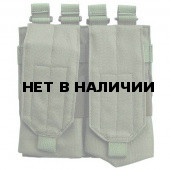 Подсумок Kiwidition M Double на 4 магазина серии M4/M16/AR15 с эластичной лентой олива