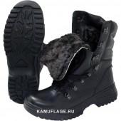 Ботинки Garsing Охотник м. 620 натуральный мех черные