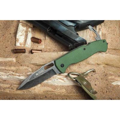 Нож Kizlyar Supreme Ute 440C Stone-Wash Green складной