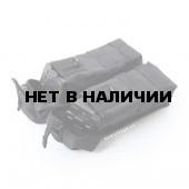 Подсумок KE Tactical под АК патрульный двойной с бесшумной застежкой со стропами черный