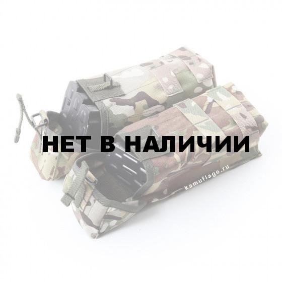 Подсумок KE Tactical под АК патрульный двойной с бесшумной застежкой со стропами multicam