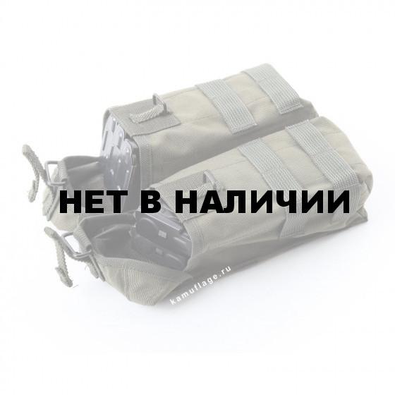 Подсумок KE Tactical под АК патрульный двойной с бесшумной застежкой со стропами олива тёмная