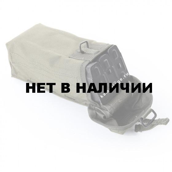 Подсумок KE Tactical под АК патрульный одинарный с бесшумной застежкой олива тёмная