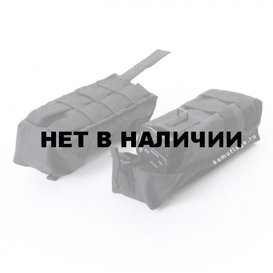 Подсумок KE Tactical под АК патрульный одинарный с бесшумной застежкой со стропами черный