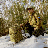 Рюкзак KE Tactical Assault 40л Cordura 1000 Den multicam со стропами multicam