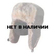 Шапка-ушанка Волк хаки