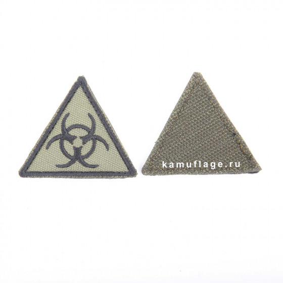 Шеврон KE Tactical Эпидемия треугольник 4,5 см олива/черный