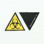 Шеврон KE Tactical Эпидемия треугольник 5 см желтый/черный