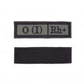 Шеврон KE Tactical Группа крови О (I) Rh+ прямоугольник 2,5х9 см олива/черный