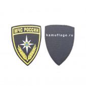 Шеврон KE Tactical МЧС России Щит 7,5х11 см черный/желтый