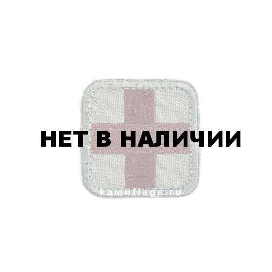 Шеврон KE Tactical Медицинский крест квадрат 5 см олива/коричневый