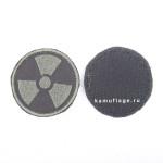 Шеврон Радиация круглый 5 см черный/олива