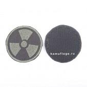 Шеврон KE Tactical Радиация круглый 5 см черный/олива