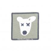 Шеврон Собака квадрат 6 см олива