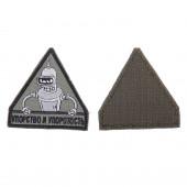 Шеврон KE Tactical Упорство и Упоротость треугольник 7 см олива/черный/серый