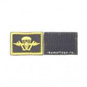 Шеврон KE Tactical ВДВ прямоугольник 2,5х3,5 см черный/желтый