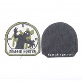 Шеврон Zombie Hunter 6х6 см олива/черный/белый