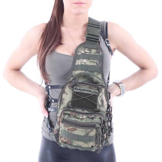 Сумка KE Tactical на плечо 1-Day Mission 5 литров Cordura 1000 Den mandrake