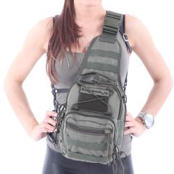 Сумка KE Tactical на плечо 1-Day Mission 5 литров Cordura 1000 Den олива