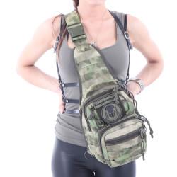 Сумка KE Tactical на плечо 1-Day Mission 5 литров Nylon 900 Den A-Tacs FG