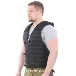 Жилет-основа KE Скорпион с расширенной спиной на MOLLE с застежкой на молнию и фастекс черный
