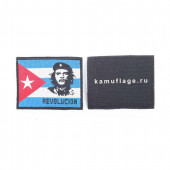 Шеврон KE Tactical флаг Чегевара прямоугольный 9х7 см синий/белый/красный