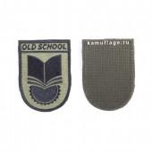 Шеврон KE Tactical Old School 6х8 см олива/черный