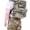 Рюкзак KE Tactical Assault 40л Polyamide 500 Den A-Tacs FG со стропами олива