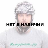 Шапка-ушанка Keotica Шугун мембрана digital urban маска белая