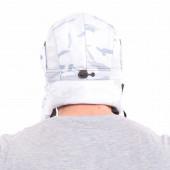 Шапка-ушанка Keotica Шугун мембрана мультикам белый маска белая