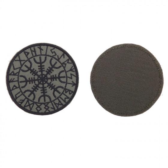 Шеврон KE Tactical Гальдрастав (Щит силы) круглый 8 см олива/черный