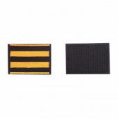 Шеврон KE Tactical Георгиевская лента прямоугольник 6х4,5 см черный/оранжевый