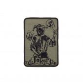 Шеврон Joker прямоугольник 8,5х12 см олива/черный