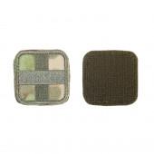 Шеврон KE Tactical Медицинский крест квадрат 5 см A-Tacs FG/олива