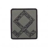 Шеврон Одал прямоугольник 8х9,5 см олива/черный