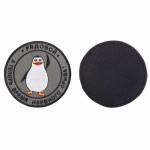 Шеврон Рядовой пингвин круглый 9 см олива/черный/белый