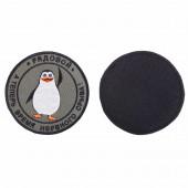 Шеврон KE Tactical Рядовой пингвин круглый 9 см олива/черный/белый