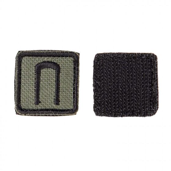 Шеврон KE Tactical Славянская руна Перун квадрат 2,5 см олива/черный