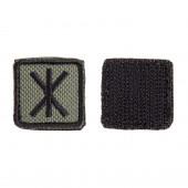 Шеврон KE Tactical Славянская руна Рок квадрат 2,5 см олива/черный