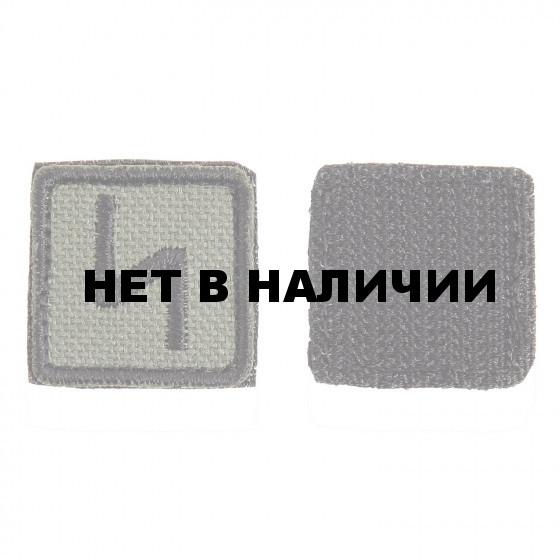 Шеврон KE Tactical Славянская руна Сила квадрат 2,5 см олива/черный